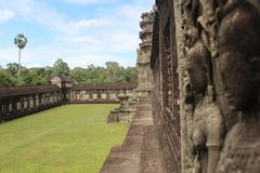 Καμπότζη Ναός Wat Angkor Το Siem συγκεντρώνει την επαρχία Το Siem συγκεντρώνει την πόλη Στοκ Φωτογραφία