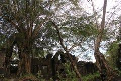 Καμπότζη Ναός & x28 Khan Kampong Svay Preah  Prasat Bakan & x29  Επαρχία Vihear Preah Το Siem συγκεντρώνει την πόλη Στοκ Εικόνες
