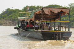 Καμπότζη. Ποταμός Tonselap Στοκ φωτογραφία με δικαίωμα ελεύθερης χρήσης