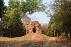 Καμπότζη Πόλη Prei Kuk Sambor Ναός Rompeak Tropeang Επαρχία Thom Kampong Πόλη Thom Kampong στοκ φωτογραφίες