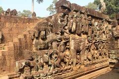 Καμπότζη Πόλη Thom Angkor Πεζούλι των ελεφάντων Το Siem συγκεντρώνει την επαρχία Το Siem συγκεντρώνει την πόλη Στοκ Φωτογραφία