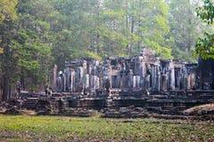 Καμπότζη, Angkor Thom - ναός Bayon Στοκ Εικόνες