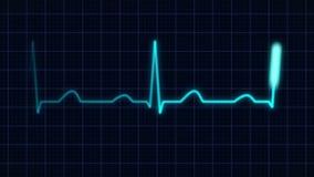 Καμπύλη κτύπου της καρδιάς απεικόνιση αποθεμάτων