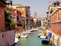 κανάλια Βενετία Στοκ εικόνα με δικαίωμα ελεύθερης χρήσης