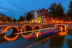 Κανάλια στο Άμστερνταμ Στοκ Εικόνα