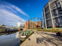 Κανάλια στο Λονδίνο στον τρόπο στο Κάμντεν, Στοκ εικόνα με δικαίωμα ελεύθερης χρήσης