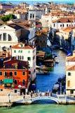 Κανάλια της Βενετίας Στοκ εικόνα με δικαίωμα ελεύθερης χρήσης