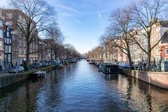 κανάλια του Άμστερνταμ στοκ εικόνα