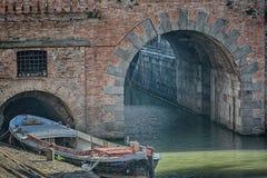 Κανάλι ποταμών στο dellla valle, Πάδοβα, Ιταλία πλατειών Στοκ εικόνα με δικαίωμα ελεύθερης χρήσης