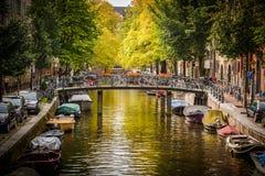Κανάλι στο Άμστερνταμ Στοκ Εικόνες