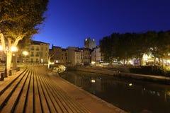 κανάλι du Γαλλία Midi narbonne Στοκ Φωτογραφίες