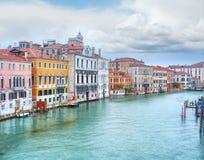 Κανάλι Grande και ενετική εικονική παράσταση πόλης, Βενετία Στοκ Φωτογραφίες