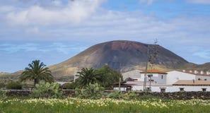 Κανάρια νησιά Ισπανία Λα Oliva Fuerteventura Las Palmas θέας βουνού Στοκ Φωτογραφία