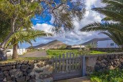 Κανάρια νησιά Ισπανία Λα Oliva Fuerteventura Las Palmas θέας βουνού Στοκ εικόνα με δικαίωμα ελεύθερης χρήσης