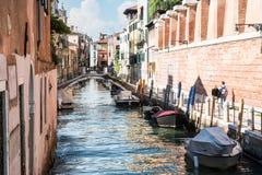 κανάλια Βενετία του Στοκ Εικόνες