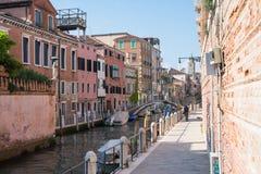 κανάλια Βενετία του Στοκ Φωτογραφίες