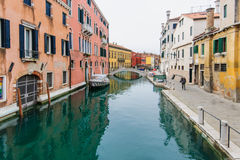 Κανάλια, Βενετία Στοκ Φωτογραφίες