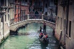 κανάλια Βενετία Στοκ Φωτογραφίες