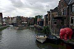 Κανάλια 53 της Γάνδης στοκ φωτογραφίες με δικαίωμα ελεύθερης χρήσης