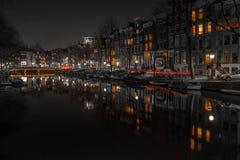 Κανάλια του Άμστερνταμ Στοκ Εικόνες
