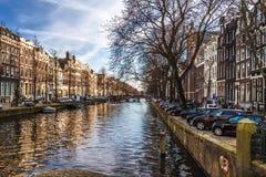 κανάλια του Άμστερνταμ Στοκ Φωτογραφία
