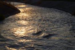 Κανάλι βραδιού Στοκ φωτογραφία με δικαίωμα ελεύθερης χρήσης