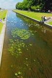 Κανάλι θάλασσας σε Peterhof Πετρούπολη Ρωσία ST Στοκ Εικόνες