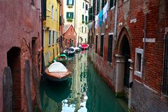 κανάλι Ιταλία Βενετία Στοκ εικόνα με δικαίωμα ελεύθερης χρήσης