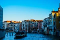 κανάλι μεγάλη Βενετία Στοκ εικόνες με δικαίωμα ελεύθερης χρήσης