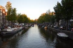 Κανάλι ν Άμστερνταμ στοκ εικόνα