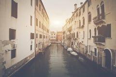 Κανάλι στη Βενετία Ιταλία Στοκ Φωτογραφία