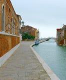 Κανάλι στο ενετικό οπλοστάσιο (Βενετία, Ιταλία) Στοκ Εικόνες