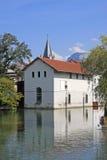 Κανάλι στο Annecy, Γαλλία Στοκ εικόνες με δικαίωμα ελεύθερης χρήσης