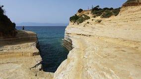 Κανάλι της αγάπης σε Sidari, Κέρκυρα, Ελλάδα Στοκ φωτογραφία με δικαίωμα ελεύθερης χρήσης