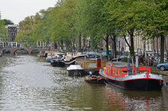 Κανάλι 1 του Άμστερνταμ στοκ εικόνες