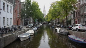 κανάλι του Άμστερνταμ απόθεμα βίντεο