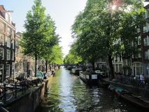 Κανάλι του Άμστερνταμ Στοκ Εικόνες