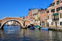 Κανάλι Cannaregio, Βενετία Στοκ εικόνα με δικαίωμα ελεύθερης χρήσης
