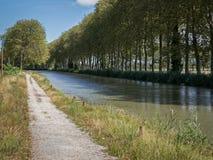 Κανάλι du Midi σε Castelnaudary, Γαλλία Στοκ Εικόνα