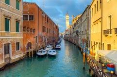 Κανάλι Greci dei του Ρίο, Βενετία, Ιταλία Στοκ Φωτογραφία