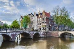 Κανάλι Keizersgracht στο Άμστερνταμ, Κάτω Χώρες Στοκ Εικόνα