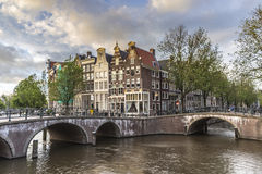 Κανάλι Keizersgracht στο Άμστερνταμ, Κάτω Χώρες Στοκ εικόνα με δικαίωμα ελεύθερης χρήσης