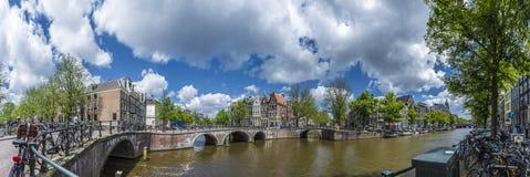 Κανάλι Keizersgracht στο Άμστερνταμ, Κάτω Χώρες Στοκ Φωτογραφία