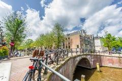 Κανάλι Keizersgracht στο Άμστερνταμ, Κάτω Χώρες Στοκ Εικόνες