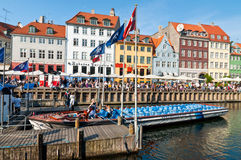 Κανάλι Nyhavn στην Κοπεγχάγη Στοκ Εικόνα