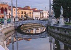 Κανάλι Valle della Prato της πλατείας, Πάδοβα, Ιταλία Στοκ Εικόνες