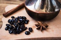 Κανέλα φασολιών καφέ onyx στοκ φωτογραφίες