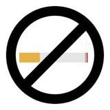 κανένας καπνός σημαδιών ελεύθερη απεικόνιση δικαιώματος