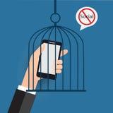Κανένας κοινωνικός, λ δεν θέλει την ησυχία Στοκ φωτογραφία με δικαίωμα ελεύθερης χρήσης