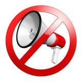 Κανένας μιλήστε το σημάδι ή κρατήστε ήρεμος ελεύθερη απεικόνιση δικαιώματος
